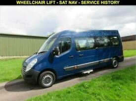 2012 12 RENAULT MASTER 2.3 LM35 DCI L3 H2 WHEELCHAIR ACCESSIBLE MINIBUS 100 BHP
