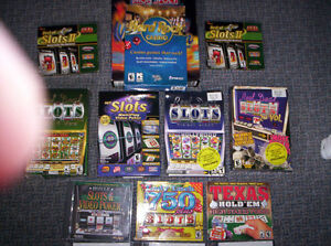 COMPUTER GAMES  SLOT MACHINES,. TEXAS HOLDEM ,MONOPOLY,SCRABBLE,