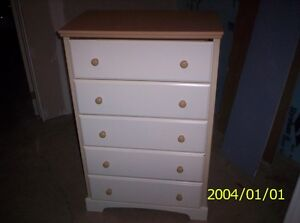 Chest of drawers and night stand