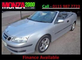 Saab 9-3 1.8t 2007MY VECTOR CONVERTIBLE NIL DEPOSIT FINANCE 3 MONTH WARRANTY