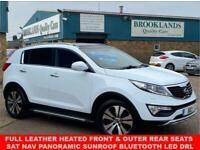 2011 Kia Sportage 1.7 CRDI 3 FUSION WHITE METALLIC SAT NAV 5d 114 BHP Estate Die