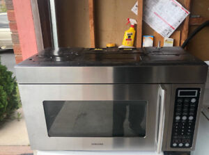 Samsung Stainless Steel over the range Microwave For Sale