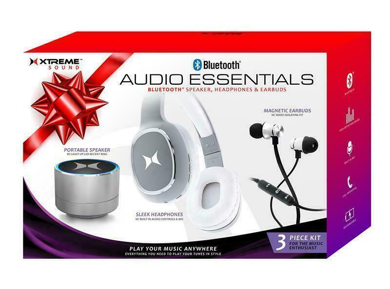 Xtreme Sound Bluetooth Audio Essentials 3pc Kit Speaker, Hea