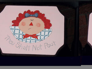 Raggedy Ann Painted Foot Stool