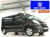 2014 VAUXHALL VIVARO SPORTIVE 2.0CDTi 115PS LWB LOW MILEAGE LONG WHEELBASE BLACK