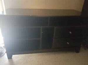 Tv Stand - two drawers, 5 shelves