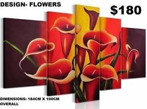 Modern Split Framed Canvas Prints ! Extra Large Paintings
