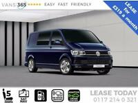 VW Transporter LEASE T30 HIGHLINE 150PS DSG SAT NAV KOMBI VAN £319+VA