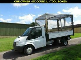 2012 62 FORD TRANSIT 2.2 350 SINGLE CAB CAGE TIPPER DRW 100 BHP - 60,004 MILES D