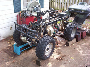 honda foreman 450 4x4 complete front end with new everything
