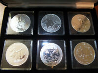 serie complete canadian wildlife 6 x 1OZ 99,99% silver