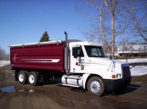 2005 Freightliner Century w/ new CBI grain/silage box