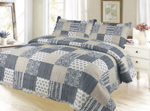New 3 pc Quilt Set - King and Queen size available