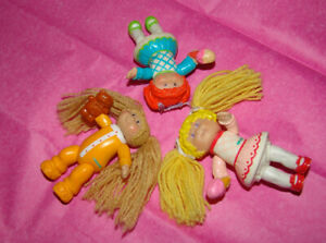 Vintage Mini Cabbage Patch Dolls / Figures 1984 Lot of 3