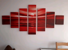 Lovely large modern 7piece wall canvas