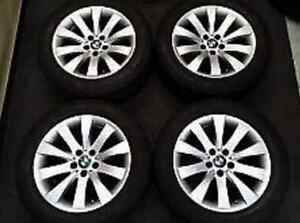 BMW 3 Series Snow Tires with original BMW Rims RFT