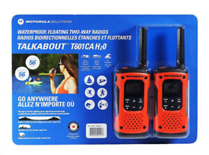 BRAND NEW MOTOROLA - TALKABOUT T601 WATERPROOF TWO-WAY RADIOS