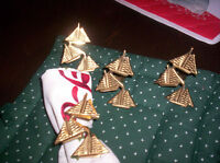 solid brass sailboat napkin holders