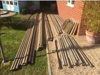 Aluminium Scaffold Poles £1 per foot.