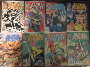 Alpha Flight Comic Book Lot