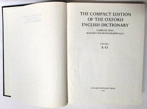 Oxford English Dictionary, Compact Edition 1971, 2 Volumes Set Stratford Kitchener Area image 3
