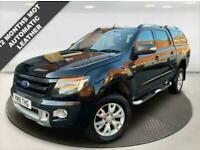 2015 15 FORD RANGER 3.2 WILDTRAK 4X4 DCB TDCI 4D AUTOMATIC + LEATHER + REV CAMER