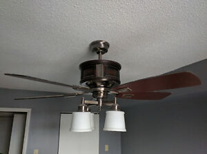 Hampton Bay Garrison 52 in. Gunmetal Ceiling Fan