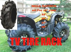 "MEGA MAYHEM  27"" set of 4 tires ATV TIRE RACK. WE BEAT PRICES!!!"