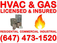 Licensed & Insured (HVAC & GAS) >>>>>>>>>>>>>>>Free Estimate