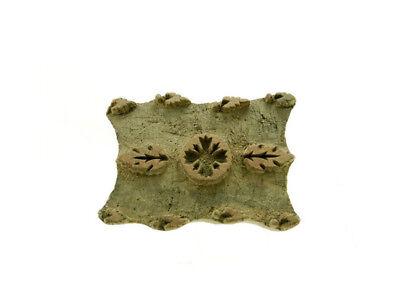 Antique Bunta Stamped Wood Printing Fabric Textile Batik Antique India X08