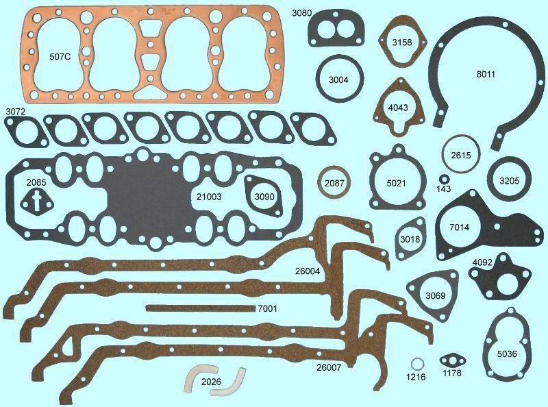 Studebaker 164 169 170 Flathead Full Engine Gasket Set//Kit BEST 1939-1954