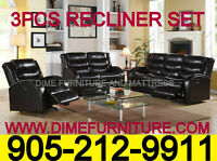 WAREHOUSE SALE 3PCS RECLINER SET $999
