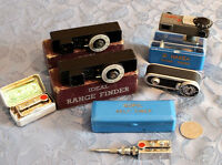 Antique rangefinders and self timers.