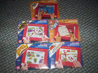 5 x ETCH A SKETCH Action Pack x 6 screens per pack vintage
