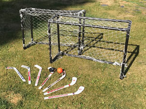 Mini sticks, nets, puck and ball!
