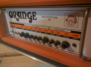 Orange Rockerverb 50 w/road case and footswitch