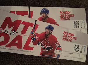Montreal Canadiens vs Dallas Stars March 28/17