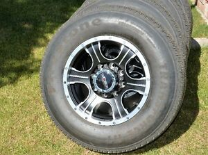 """** Assassin 17"""" alloy rims with 97% Firestone 10 ply tires **"""