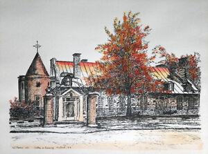 Château Ramesey  Aquarelle et encre de chine