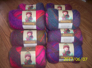 """Lionbrand's """"Amazing"""" Self-striping Yarn For Sale"""
