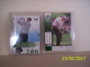 2  2002 Phil Mickelson upper deck cards $10 each
