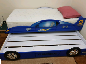 Single Car bed with Trundle