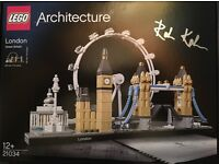 21034 LEGO Architecture, London Skyline. Signed by the designer Rok KOBE (See Picture).