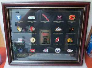 1997 NHL STANLEY CUP CHAMPIONS FRAMED PIN COLLECTION! LEAFS.... Peterborough Peterborough Area image 2