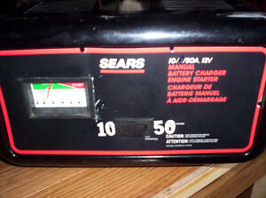 sears auto car charger. 10 amp with 50 amp starter