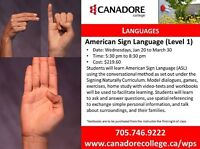 Canadore College - Parry Sound - American Sign Language