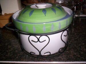 stylish pot with basket