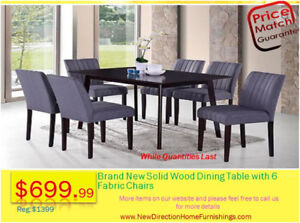 ★7-Pcs Dining Table Set★Stock Blowout SALE★@NewDirection