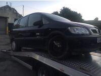 2004 Vauxhall Zafira 1.6 damaged spares or repairs