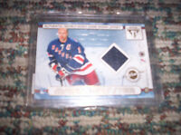 Mark Messier / Eric Lindros double sided jersey Hockey card